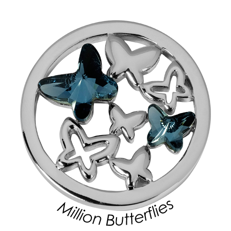 Quoins disc Swarovski Elements  Million Butterflies - qmok-23l-e-bl