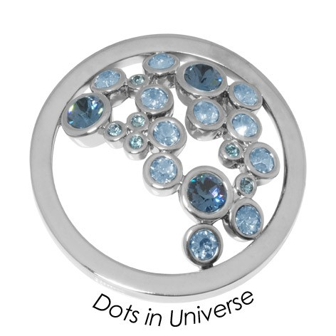 Quoins disc Swarovski Elements  Dots in Universe - qmok-34l-e-bl