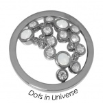 Quoins disk Swarovski Elements  Dots in Universe - qmok-34l-e-wh