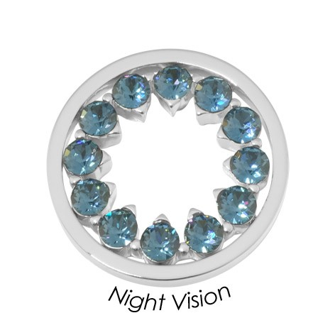 Quoins disc Swarovski Elements  Night Vision - qmok-37m-e-bl