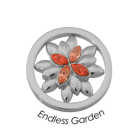 Quoins disc Swarovski Elements  Endless Garden - qmok-39s-e-rs